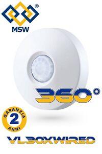 Sensore di movimento pir volumetrico 360° Cablato per sistema di allarme Filare