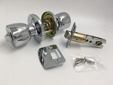 Polished Chrome Privacy Door Knob Set Handle Bathroom Toilet Twist Turn Lock