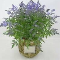 Plastic Artificial Purple Fern Flower Fern Greenery Leaf Plants Party Decor SW