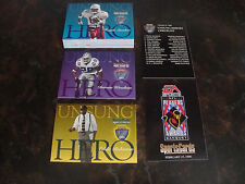 1998 Playoff Football---Unsung Heroes Banquet---Complete Set---33 Cards---HTF