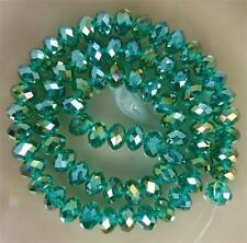 70pcs 6*8mm  Peacock Green AB Faceted Gems Loose Beads Crystal Beads