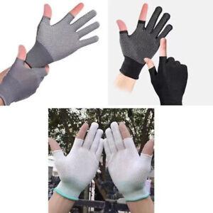 1 Pair Unisex Sunscreen Summer Breathable Touch Screen Non-slip Gloves SH