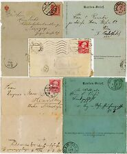 AUSTRIA + HUNGARY EARLY LETTERCARDS 1887-1908...5 ITEMS