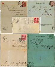 Austria + Hungría temprano lettercards 1887-1908... 5 artículos