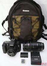 Canon EOS 60D 18.0MP Digital SLR Camera 50mm 1.8 STM Lens + 70-210mm + Backpack