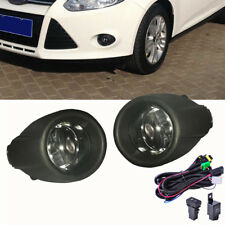 For 12-14 Ford Focus Fog Lights Driving Lamps+Black Grille Cover+Wiring Harness