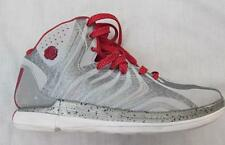 ADIDAS Derrick D Rose mens 7.5 silver white red basketball shoes metallic FAB