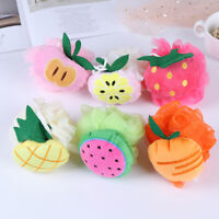 1pc soft baby bath sponge brush fruit newbron shower product rubbing towel ball>