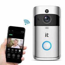 Refurbished IT Smart WiFi Door Bell Camera HD Video Wireless CCTV With Batteries