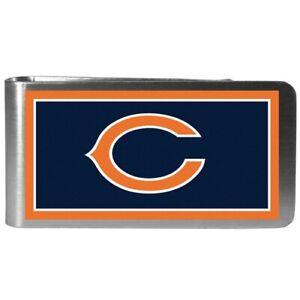 Chicago Bears Football Team Color Logo NFL Steel Money Clip