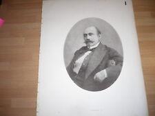 A. MAILLART Musicien PORTRAIT LITHOGRAPHIE DE 1869