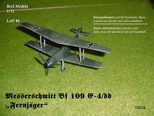 """Messerschmitt Bf 109 E-4/dd """"Fernjäger""""  1/72 Bird Models Umbausatz / conversion"""
