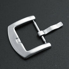 Quality 22 mm Solid Stainless Steel Brushed Watchband Pin Clasps Buckle Clasp