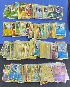 Pokemon LOT 100 CARD Common Uncommon GUARANTEED RARE + (11) HOLO CARDS Mix TCG