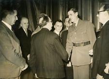 De Gaulle et les délégués du bureau international du travail Vintage silver prin
