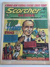 Scorcher and Score Comic 12 August 1972 Top Teams Stoke Cit