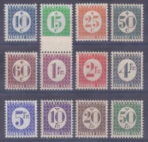 Colonies françaises  - Colonies Générales - Taxes n° 27 à 38**