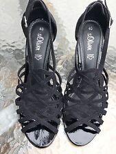 Ladies S Oliver Cut Out Black Stiletto Evening Sandals Size 7 Standard Fit.
