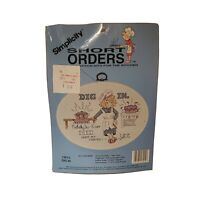 Dig In Short Order Cross Stitch Kit 13015 Simplicity Nobody Died From My Cooking