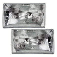 Driver and Passenger Headlights fit 1990-1994 Lincoln Town Car Headlamp Set