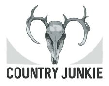 'Country Junkie' Stickers 5x4""