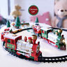 Kid Lights And Sounds Christmas Train Set Railway Tracks Toys Xmas Train Gift