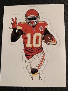 """Tyreek Hill Kansas City Chiefs Sticker Decal Super Bowl NFL #10 Cheetah 3.75"""""""
