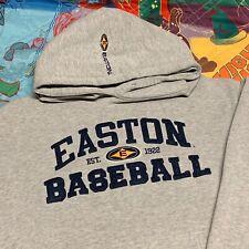 Easton Baseball Hoodie Sweatshirt Adult Medium Gray Pullover