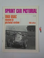 Sprint Car Pictorial 1968 Edition USAC Sprint Dirt Champ Review Yearbook