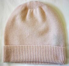 ba209ff529cce5 Baby Pink 100% Pure cashmere Hat Ski beanie Cap skull