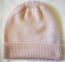 Baby Pink 100% Pure cashmere Hat  Ski beanie Cap skull