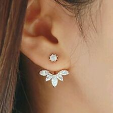 #1021 2016 fashion jewelry crystal sterling silver  jacket earring