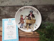 "Wedgwood Plate – ""The Baked Potato Man"" BRADEX Collector Plate"