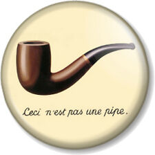 """Ceci n'est pas une pipe 1"""" 25mm Pin Button Badge French quote This is not a pipe"""