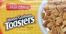 Malt O Meal Honey Graham Toasters Cereal 38 oz Bag