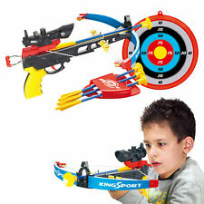 Kids Crossbow Set With Arrows Target Infrared Toy Gun Archery Shooting Game Boys