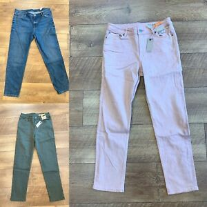 EX M&S LADIES RELAXED SLIM MID RISE JEANS VARIOUS COLOURS/SIZES