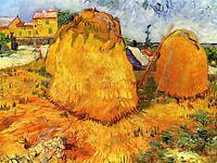 Vincent Van Gogh Haystacks In Provence 1888 Old Art Picture Canvas Art Print