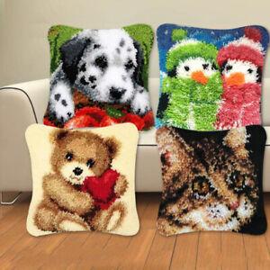Latch Hook Kit Cushion Diy Craft Needle Segment Pillow Embroidery Cross St_RI