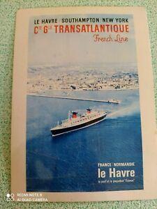 """ANCIENNE CARTE EN TÔLE EN SOUVENIR DU PAQUEBOT """"FRANCE"""" C.G.T."""