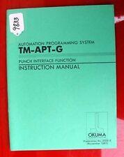 Okuma Punch Interface Func Instruction ManualTm-Aptg 3026-E, Inv. 9833