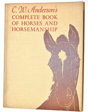 ANDERSON'S COMPLETE BOOK OF HORSES AND HORSEMANSHIP 1967 #RB235 breeds training