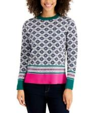 MSRP $60 Charter Club Fair Isle Sweater Blue Size Large