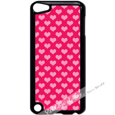 For iPod Touch 5 Case Cover Pink Hearts Y01569