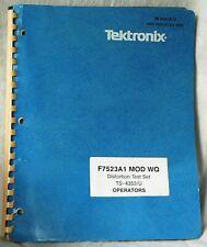 Tektronix Distortion Test Set Ts 4353u F7523a1 Mod Wq Operators Manual