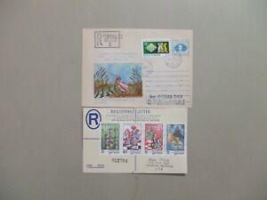 Two CHESS registered covers:Romania postal stationery envelope,Guinea registered