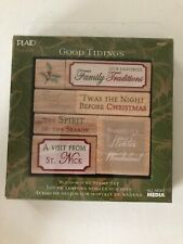 Good Tidings All Night Media Rubber Stamp Set 48602 New Sealed package