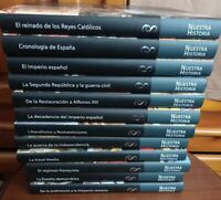 NUESTRA HISTORIA  ESPAÑA EN SU MEMORIA 12 tomos