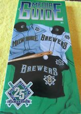 1994 MILWAUKEE BREWERS MEDIA GUIDE   25TH ANNIVERSARY 1970--1994