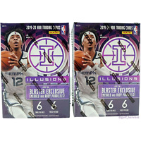 Lot of (2) 2019-20 Panini NBA Illusions Basketball Blaster Boxes 2020 NEW/SEALED